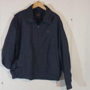 Greg Norman L light weight blk/gray check jacket